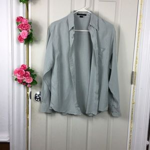 ❤️5/25$❤️Port Authority Grey Button Down Shirt New